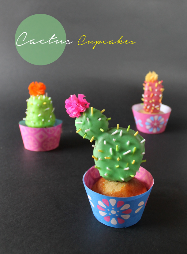 make cute cactus cupcakes with our easy step by step baking pinterest kuchen rezepte und. Black Bedroom Furniture Sets. Home Design Ideas