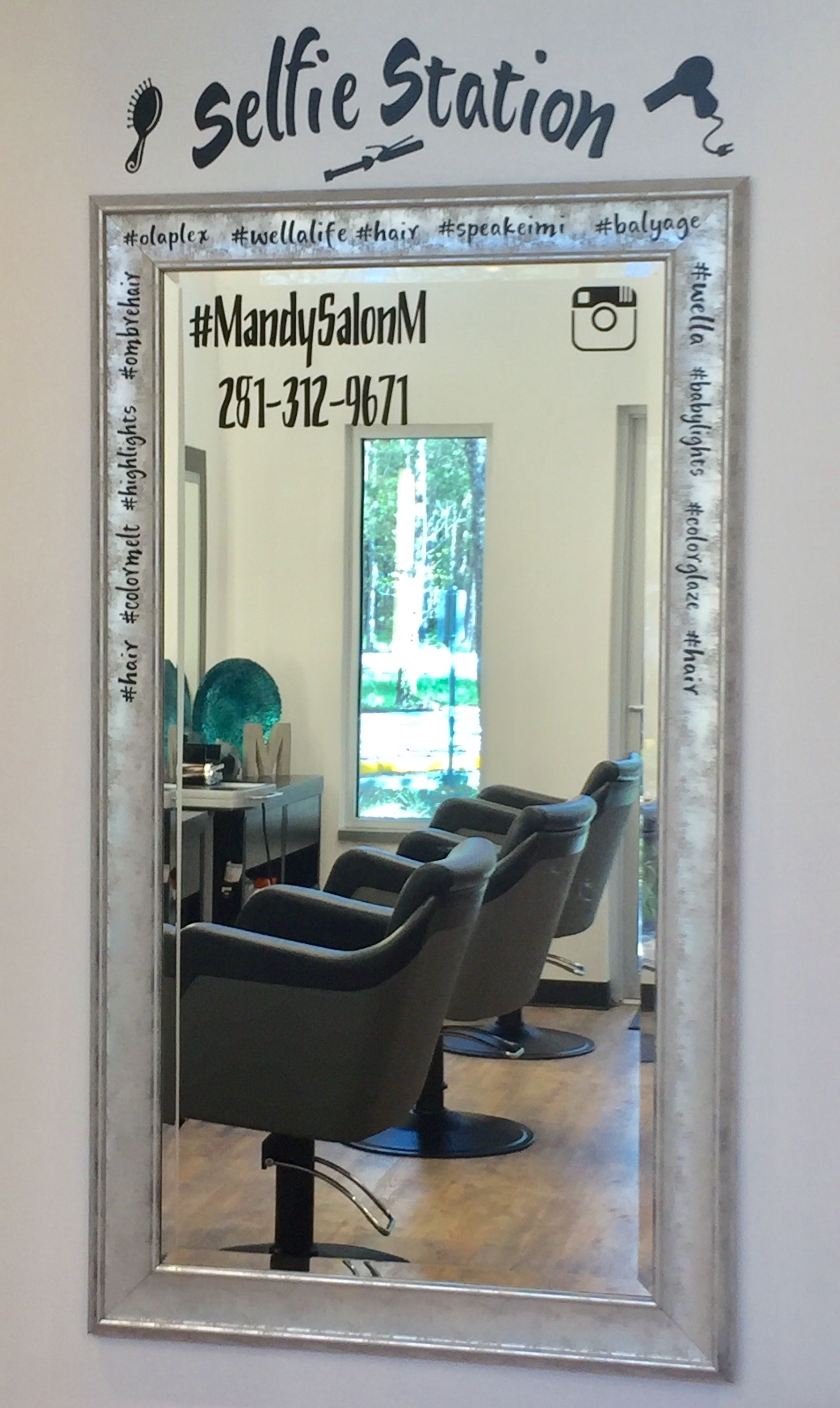 Salon central tips selfie station salonworkstation beauty salon decor small beauty salon ideas