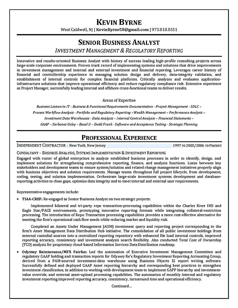 Business Intelligence Analyst Resume Mesmerizing Business Analyst Resume Describes The Skills And Expertise Of