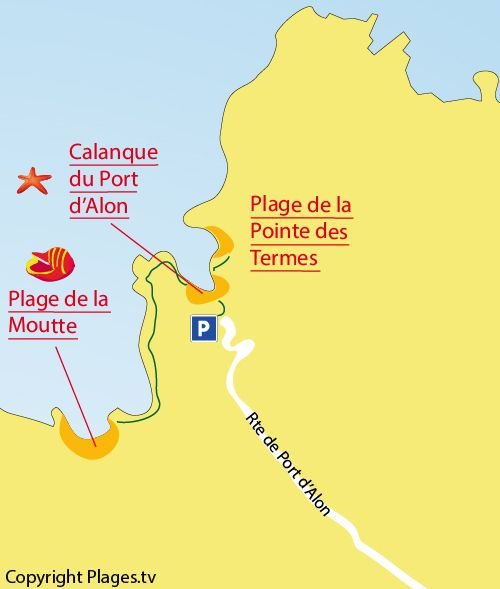 Plan De La Calanque Du Port D Alon A St Cyr Sur Mer Calanque
