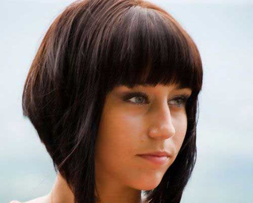 Short Dramatic Layered Bob Hairtyles For Cute Round Face