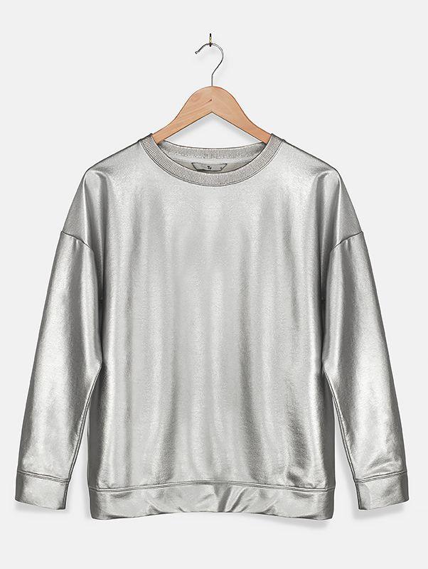 Tu clothing, silver jumper, sweatshirt