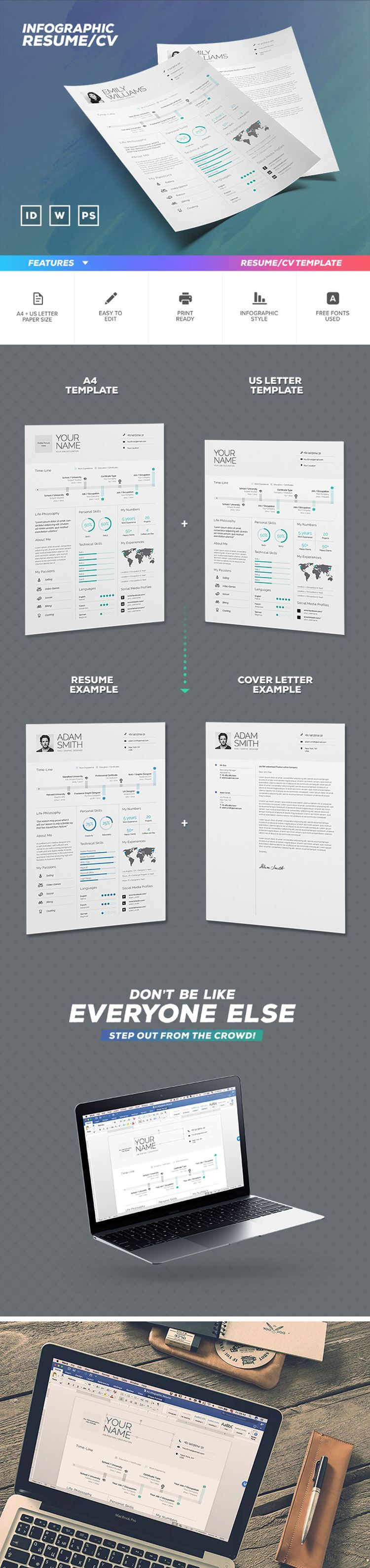 Free Infographic Resume Template | CV | Pinterest | Infographic ...
