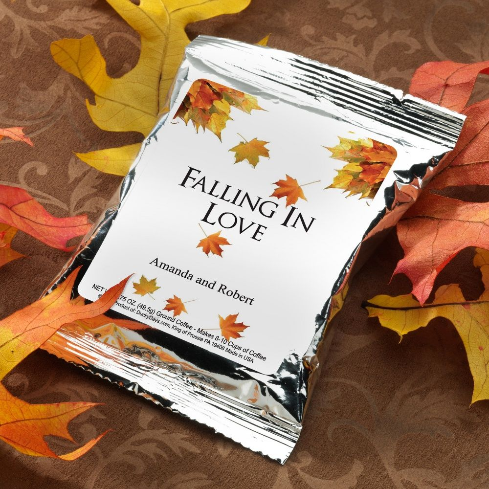 Personalized Autumn Themed Cocoa Mix Wedding Favor ...