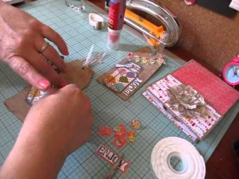 Tag Time Tues. #5~ Burlap Paper Tag For Gift Bag - YouTube