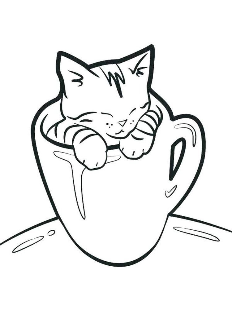Cutest Kitten Coloring Pages The Kitten Is A New Born Little Cat This Term Is Used For Cats Under The In 2020 Kitten Coloring Book Dog Coloring Page Kittens Coloring