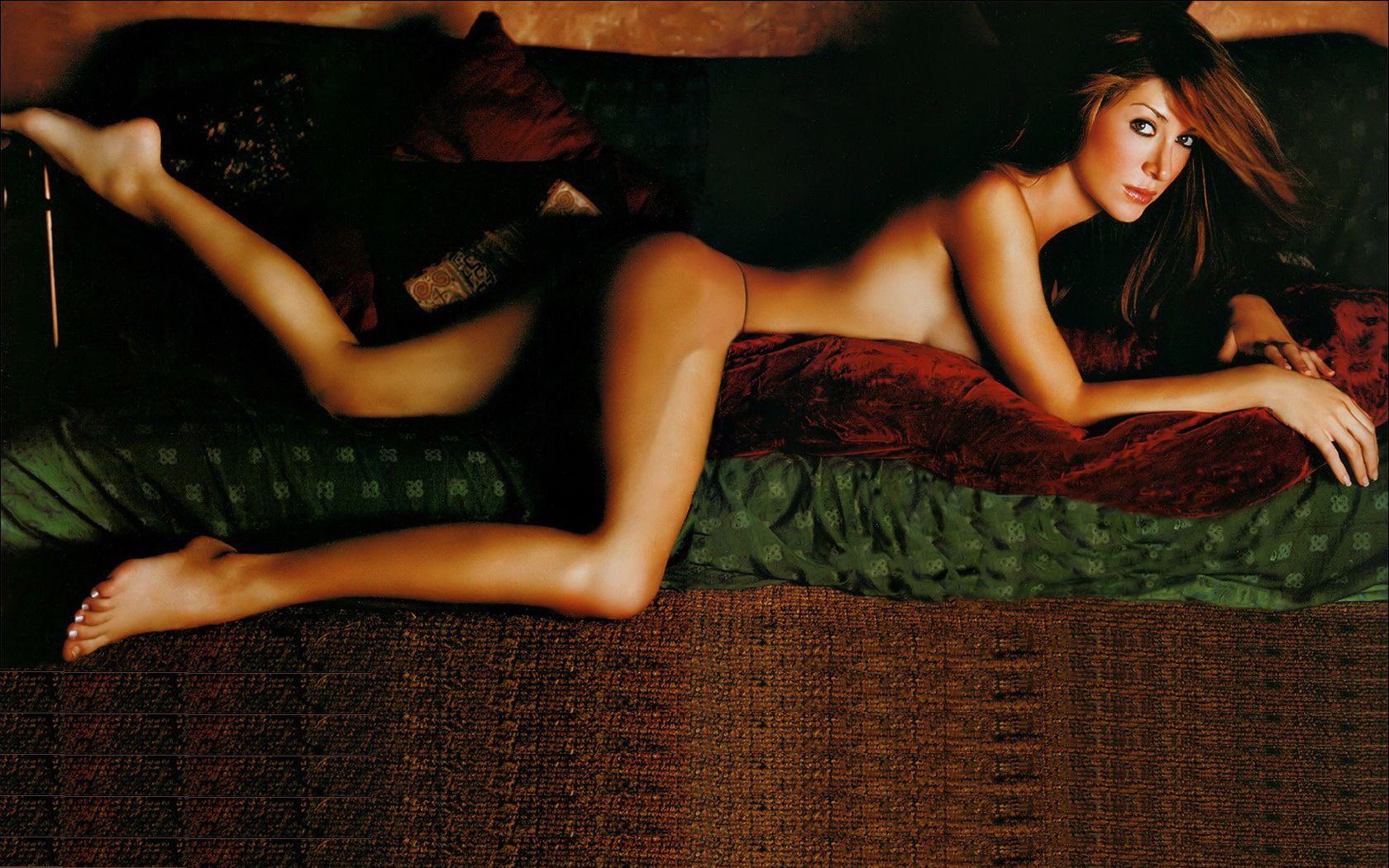 Nude male model full body