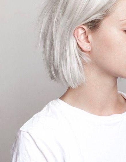 Beautiful White Hair Hair Styles Platinum Blonde Hair Short Hair Styles