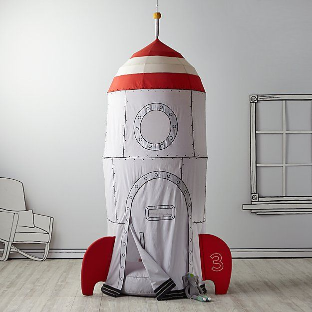 To the Moon Playhouse Canopy & Cushion Set   The Land of Nod