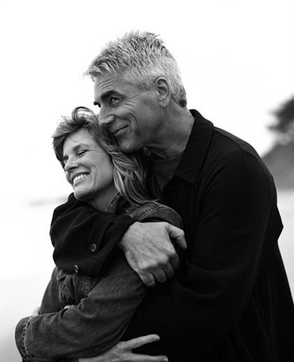 Beautiful shot of actors Sam Elliott and Katharine Ross, who also happen to be husband and wife, taken by photographer Sam Jones.