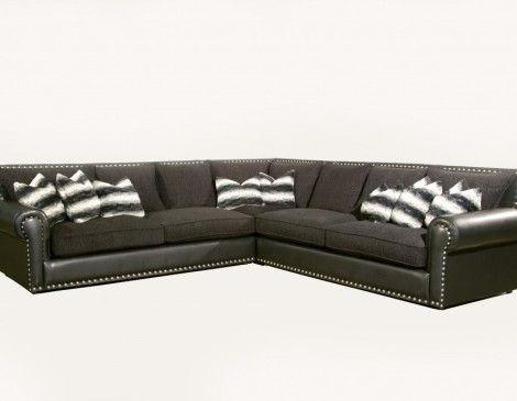 Robert Michael 3 Pc Classic V Sectional Living Room