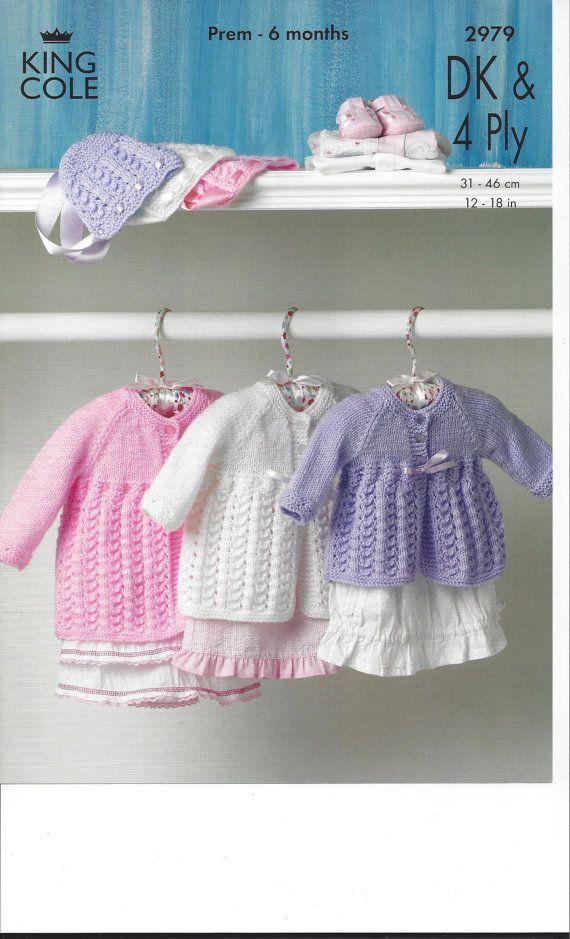 Vintage Knitting Pattern Baby Infant Lace By Nanasvintagepatterns