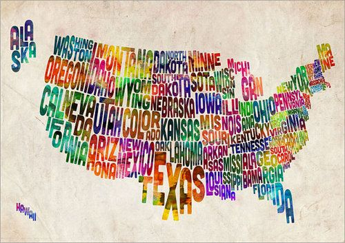 Cute Usa Map.Usa Thought Cute Until I Saw Oklahoma Land That I Love Drawing