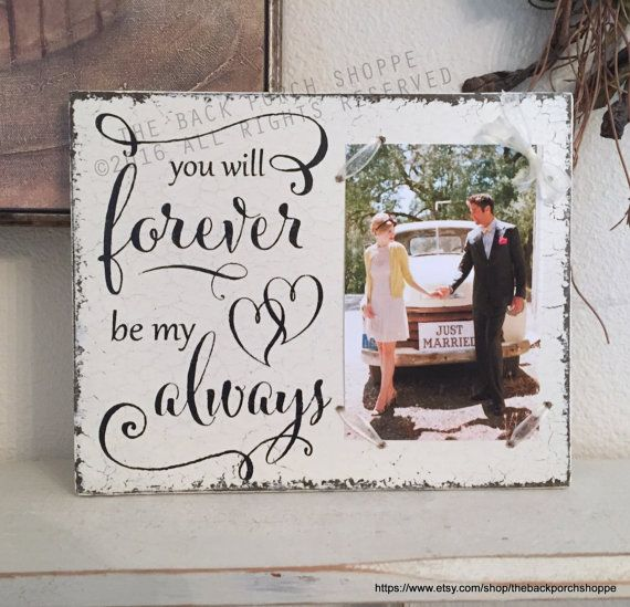 Wedding Picture Frame Wedding Signs Bride And Groom Gift You Will