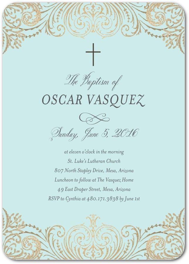 Elegant Immersion: Lightest Turquoise - Baptism, Christening ...