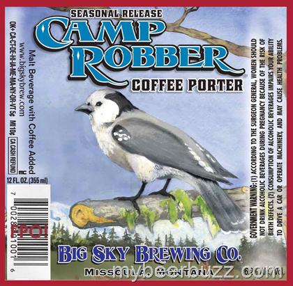 Big Sky Brewing Camp Robber Coffee Porter Beer label