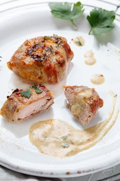 Photo of Pork fillet with bacon in curry cream – easy to cook