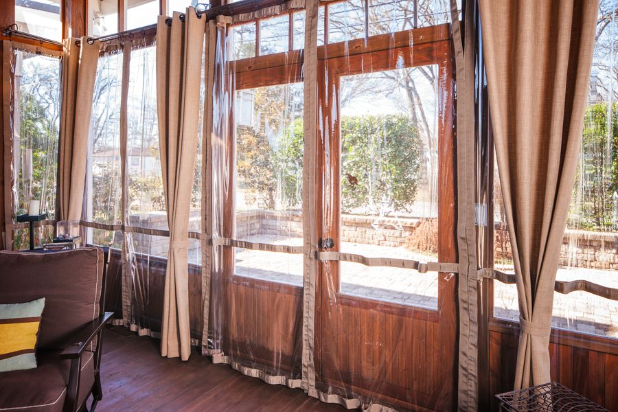 Warm Up Your Porch This Winter The Porch Company Screened Porch Decorating Porch Curtains House With Porch