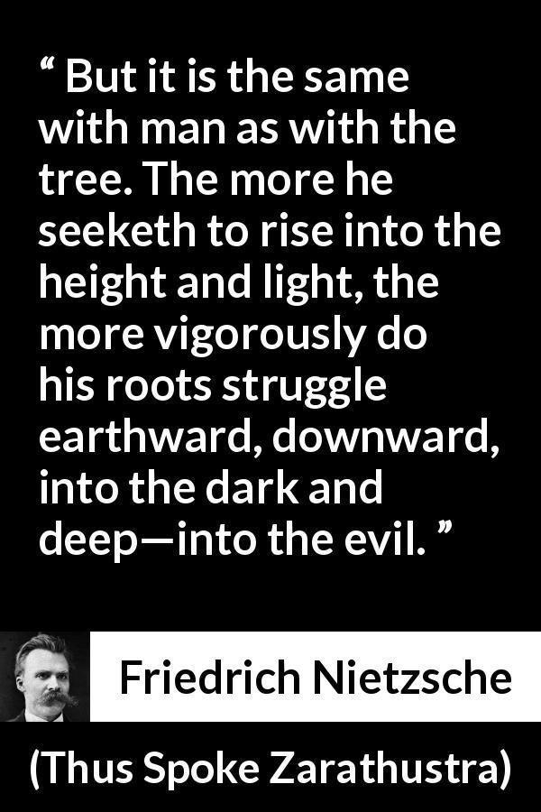Friedrich Nietzsche Quote About Darkness From Thus Spoke Zarathustra