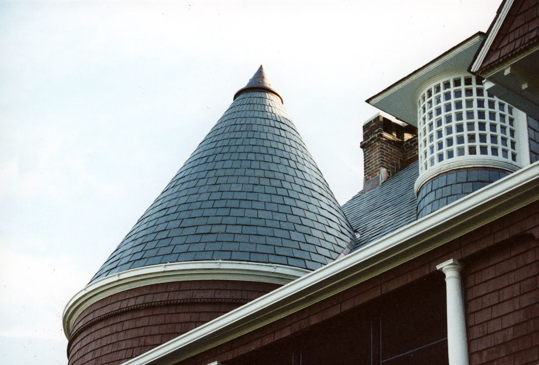 Amazing Craftsmanship On This Slate Cone Roof Done By The Durable Slate Company Durable Slate Roofing Contractors