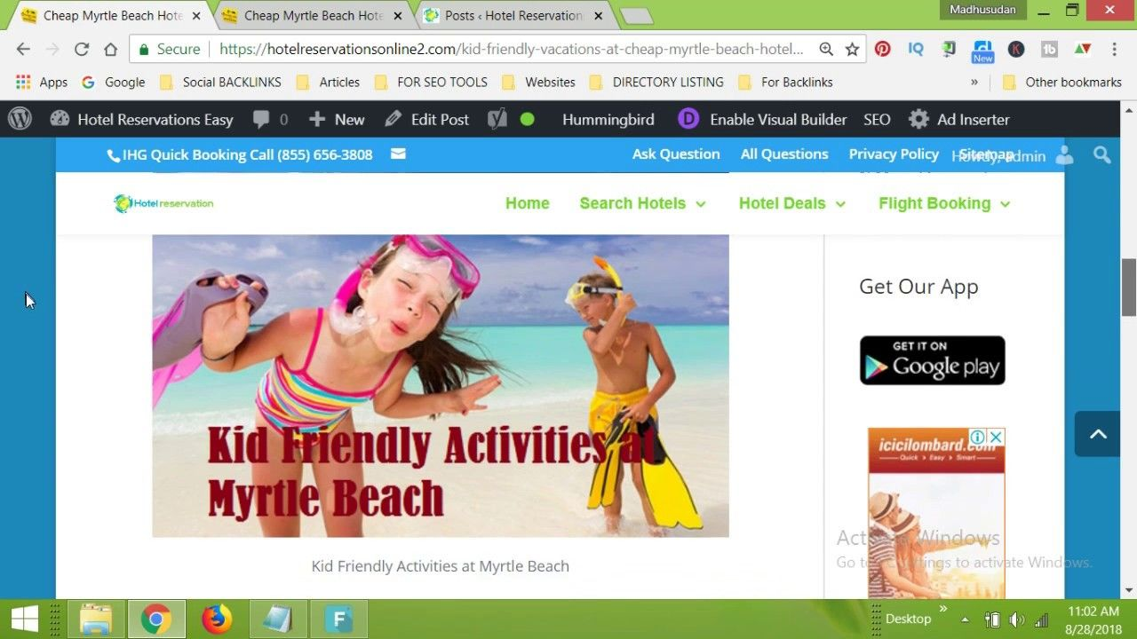 Cheap Myrtle Beach Hotels with Indoor Water Park Myrtle