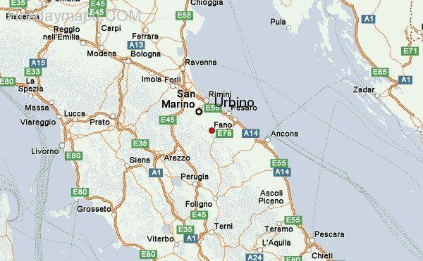 Forli Italy Map.Nice Map Of Italy Urbino Holidaymapq Pinterest Italy Italy