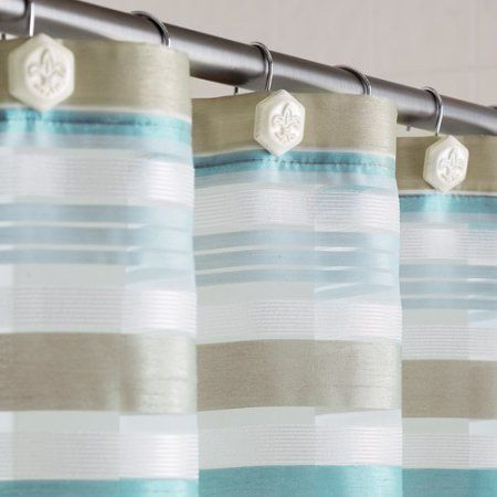 Home Fabric Shower Curtains Kids Bathroom Colors Classic Stripe