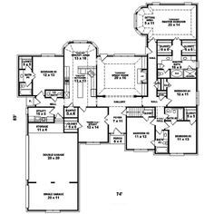 Great Earline Ranch Home Plan 087D 1473 | House Plans And More Amazing Ideas