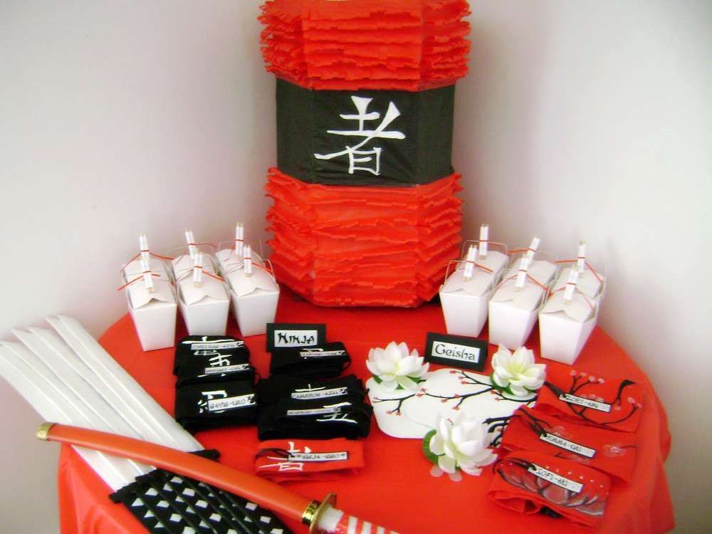 Delightful Chinese Theme Party Decoration Ideas Part - 4: Asian Ninja Karate Chinese Japanese Birthday Party Ideas | Photo 7 Of 41