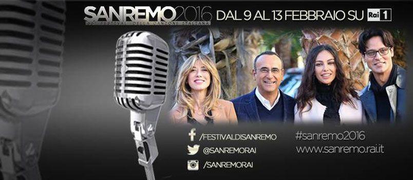 Sanremo 2016: ecco l'ordine di uscita stasera dei Big in gara