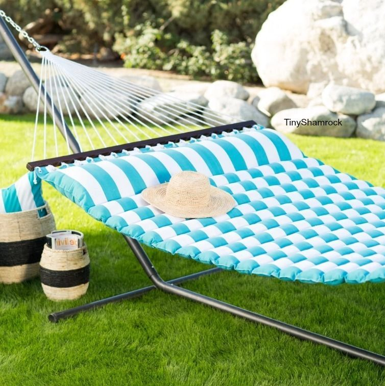 hammock with stand pillowtop quilted 2 person rope steel luxury backyard outdoor hammock with stand pillowtop quilted 2 person rope steel luxury      rh   pinterest