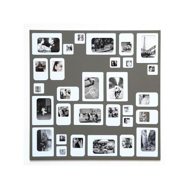 M30 Grey And White Magnetic Photo Frame Magnetic Photo Frames Frame Photo Frame