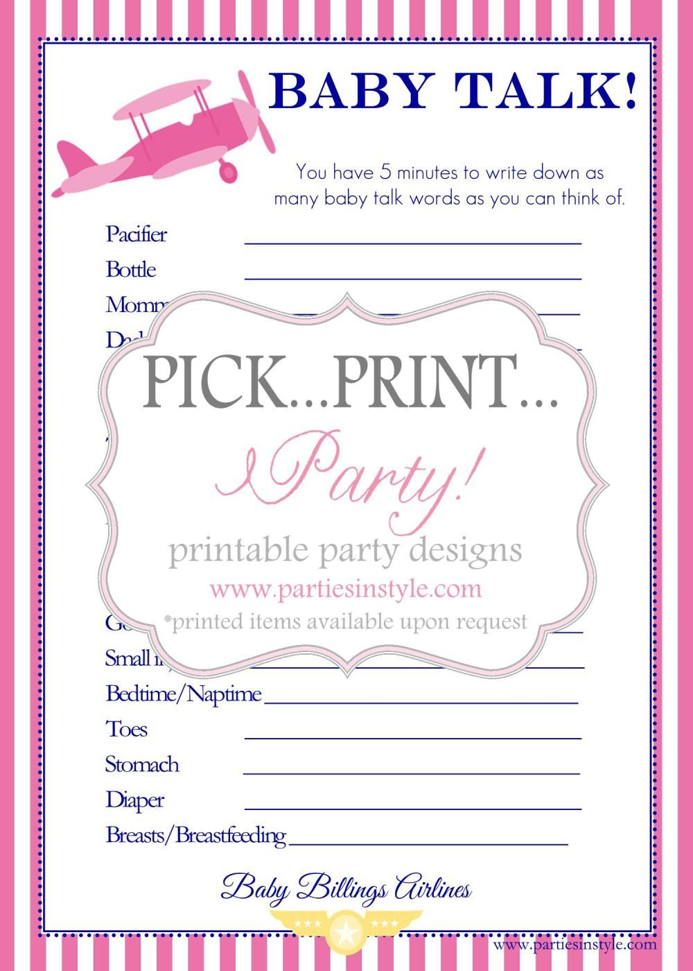 Baby shower game baby talk printable diy we will need some in baby shower game baby talk printable diy we will need some in spanish and solutioingenieria Choice Image