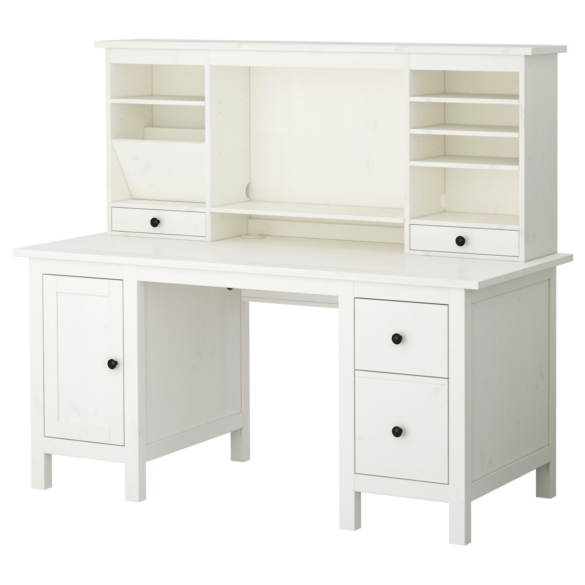 Office Desks White hemnes desk with add-on unit, white. desk -$279, hitch - $150