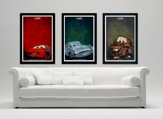 Disney Pixar Cars Custom Poster Print Set Of 3 12quotx18