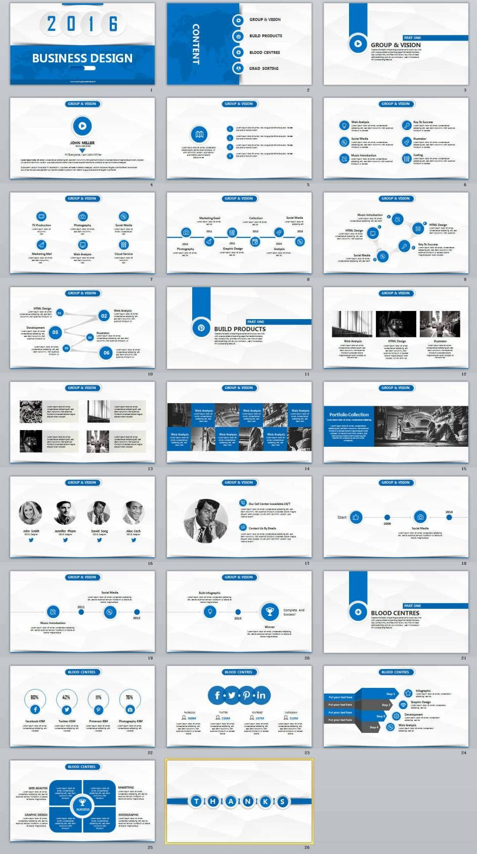 Business Design Professional Powerpoint Templates  Powerpoint