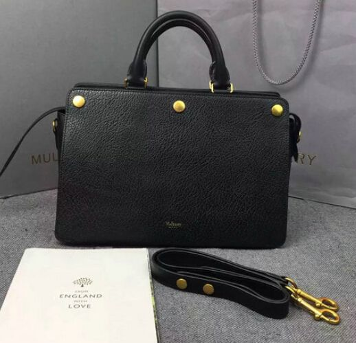 657982ab785 cheap Mulberry bags 2016 Mulberry Chester in Black Textured Goat Leather