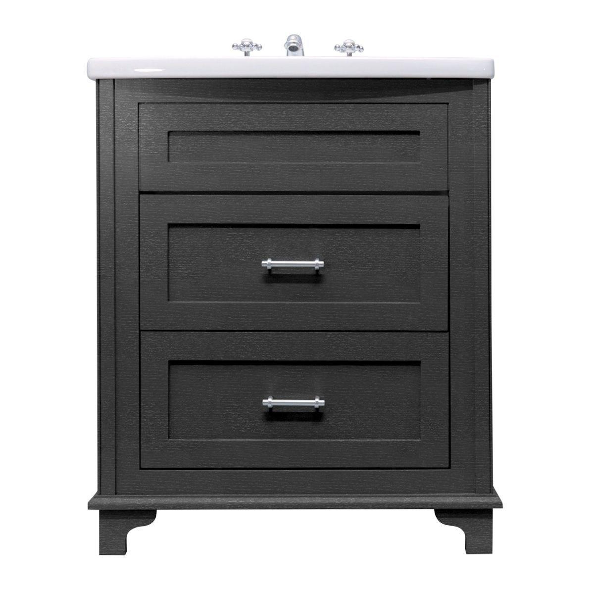 Imperial Thurlestone Floorstanding 2 Drawer Vanity - UK Bathrooms