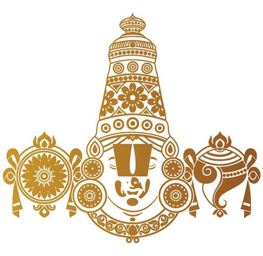 Tirupati Balaji Copper Rear Glass Car Sticker Lord Vishnu
