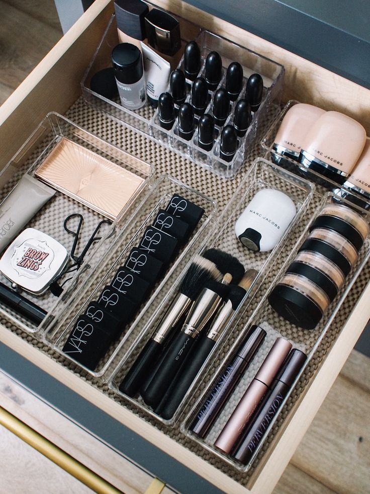 How I Organize My Makeup Drawers - Andee Layne