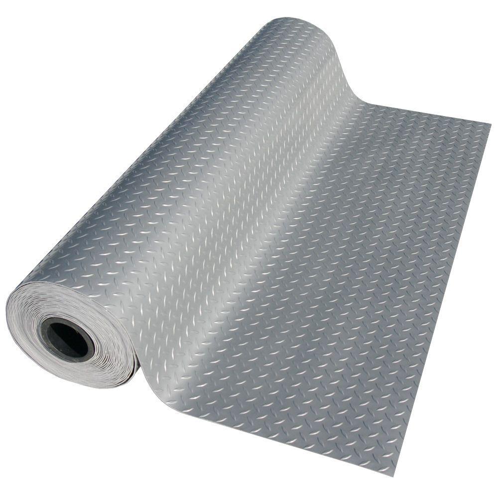 Rubber Cal Quot Diamond Plate Metallic Quot Pvc Flooring 2 5mm