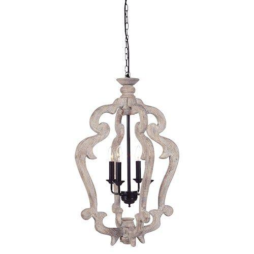 American Furniture Liquidation Brooklyn Park Mn: Pendant Lights Jocelin Distressed White Wood Pendant Light
