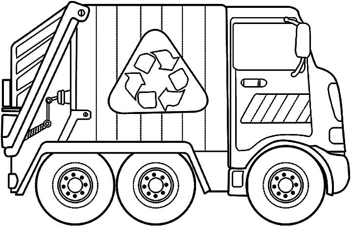 Garbage Truck Jpg 720 462 Truck Coloring Pages Monster Truck