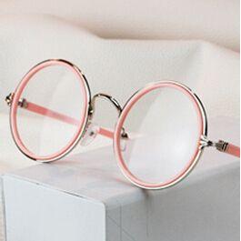 fa0037f1c587f Barato olá kitty marca óculos redondo rosa mulheres armações 2014 estrutura  metálica óculos oculos cc grau de mulheres. kc