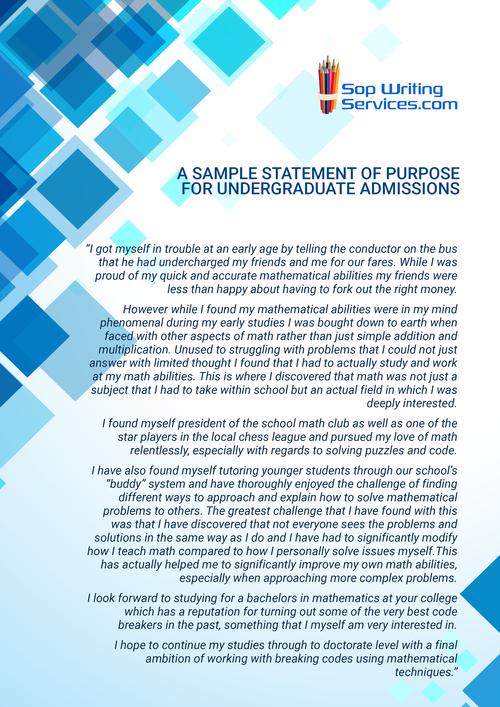 sample personal statement undergraduate admission