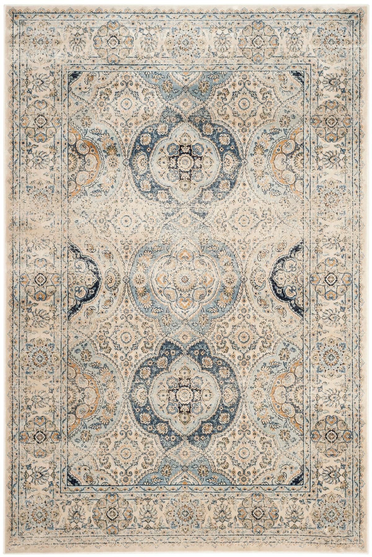 The classic design of antique persian rugs is treated to a designer look distressed patina in these marvelously imaginative area rugs