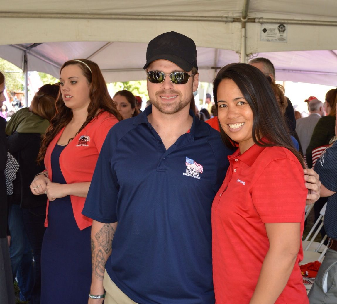 Cpl Joshua Hotaling and Tanya Evangelista of Armstrong at the ground breaking ceremony for Cpl Hotaling's new home.
