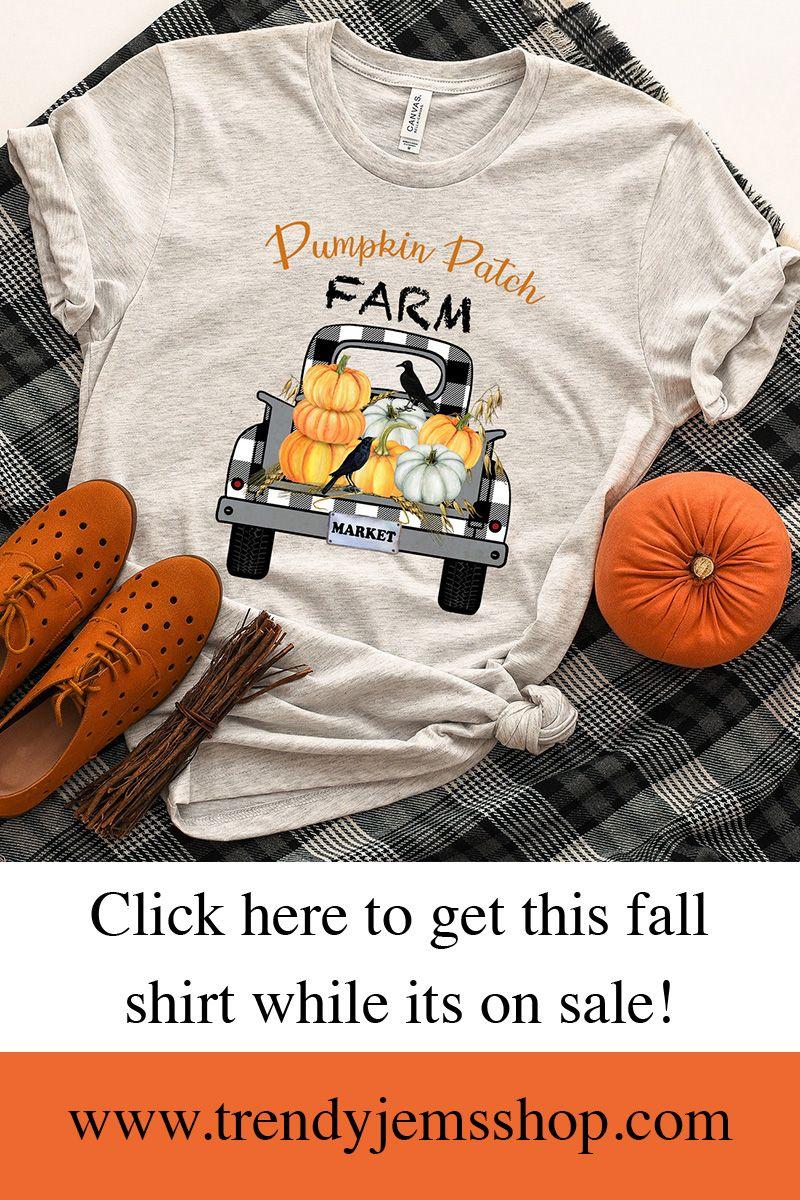 Pumpkin Patch Farm Shirt Halloween Tees for women