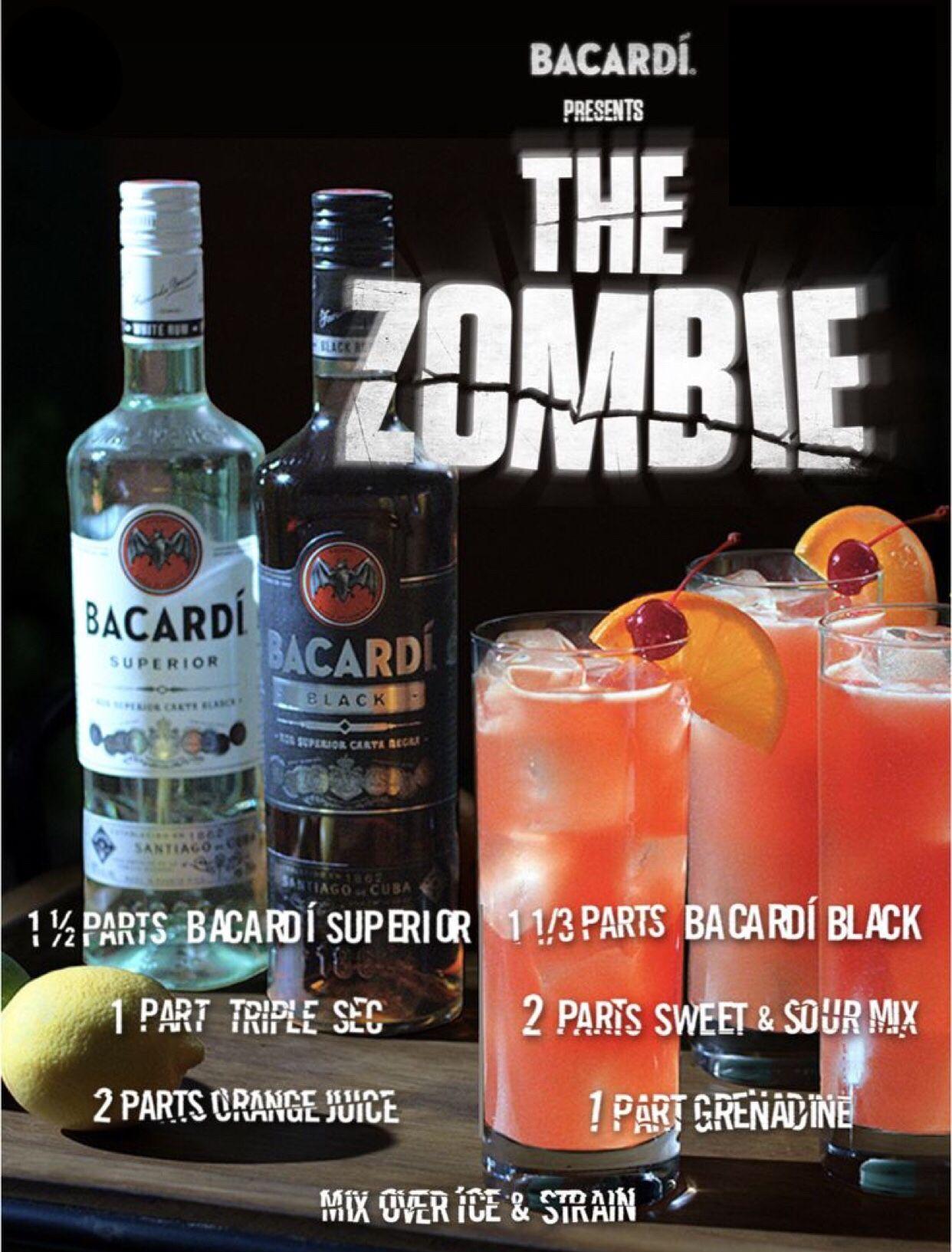 The Zombie Alcohol Drink Recipes Drinks Alcohol Recipes Halloween Drinks