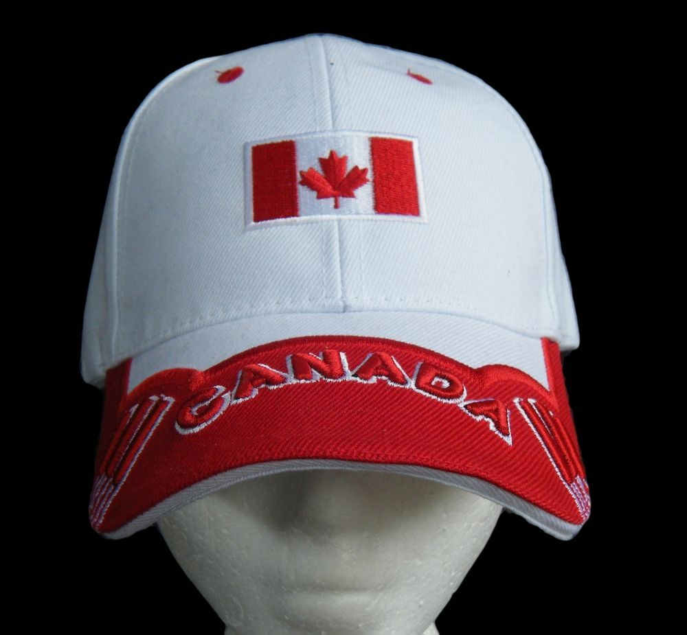 2293e7f9324 WHITE CANADA CANADIAN COUNTRY FLAG SOCCER BASEBALL CAP RED MAPLE LEAF   Canada  Canadaflag  Canadacap  Canadahat  Canadabaseballcap  baseballcap   baseballhat ...